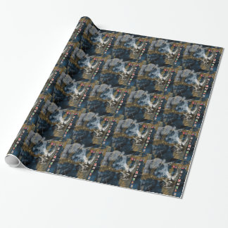 Stop Rhino Poachers Wildlife Conservation Art Wrapping Paper