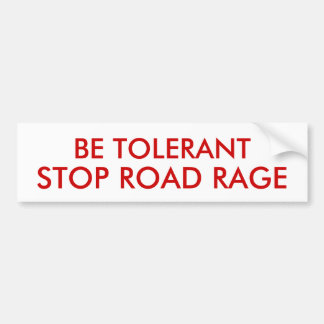 STOP ROAD RAGE BUMPER STICKER