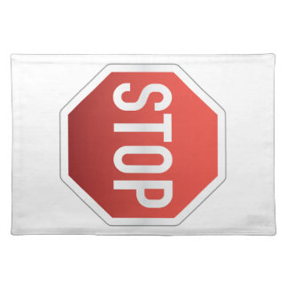 STOP road sign Place Mat