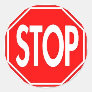 Stop Round Sticker