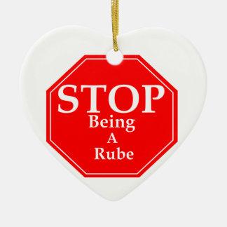 Stop Rubeness Ceramic Heart Ornament