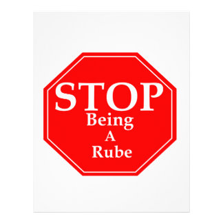 Stop Rubeness Letterhead