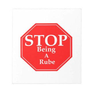 Stop Rubeness Notepad