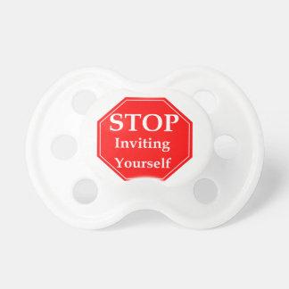 Stop Rudeness #2 Baby Pacifiers