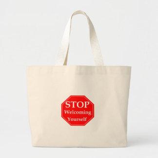 Stop Rudeness Large Tote Bag