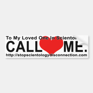 Stop Scientology Disconnection Bumpersticker Bumper Sticker