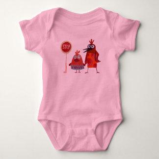 stop sign baby bodysuit
