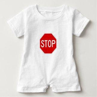 Stop sign baby romper