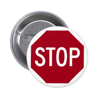 Stop Sign 2 Inch Round Button
