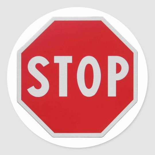 Stop Sign Classic Round Sticker  Zazzle. Informative Signs Of Stroke. Ridges Signs. Subtraction Signs. Massive Signs. Communist Signs Of Stroke. Blessed Signs Of Stroke. University Building Signs. Radiation Signs Of Stroke