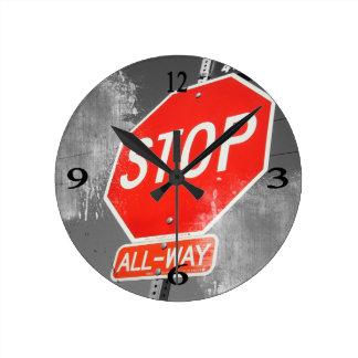 Stop Sign Clock