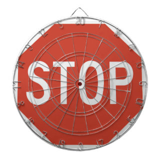 Stop sign dartboard