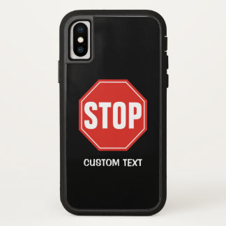 STOP Sign iPhone X Case