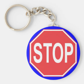 STOP SIGN KEYCHAIN