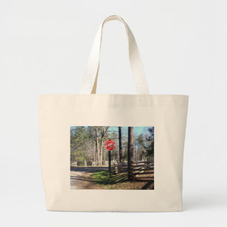 Stop Sign Large Tote Bag