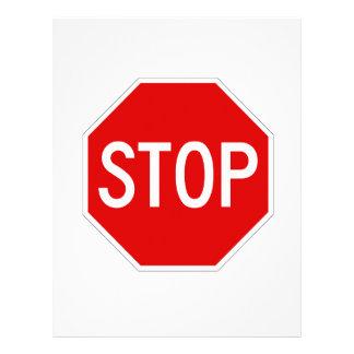 Stop sign letterhead