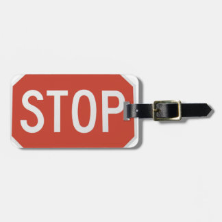 Stop sign luggage tag