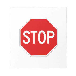 Stop sign notepad