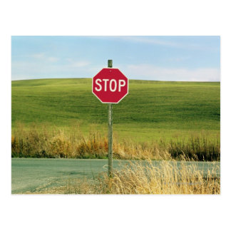 Stop sign on Country, Palouse, Washington Postcard