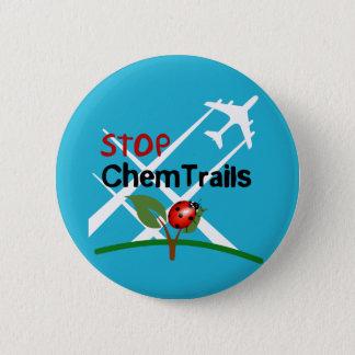 Stop Sign Plane Aerosol Trails LadyBug 2 Inch Round Button