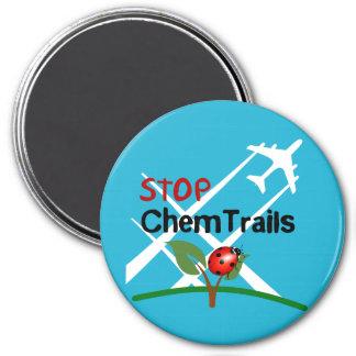 Stop Sign Plane Aerosol Trails LadyBug 3 Inch Round Magnet