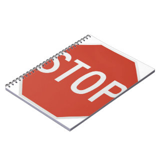 Stop sign spiral notebook