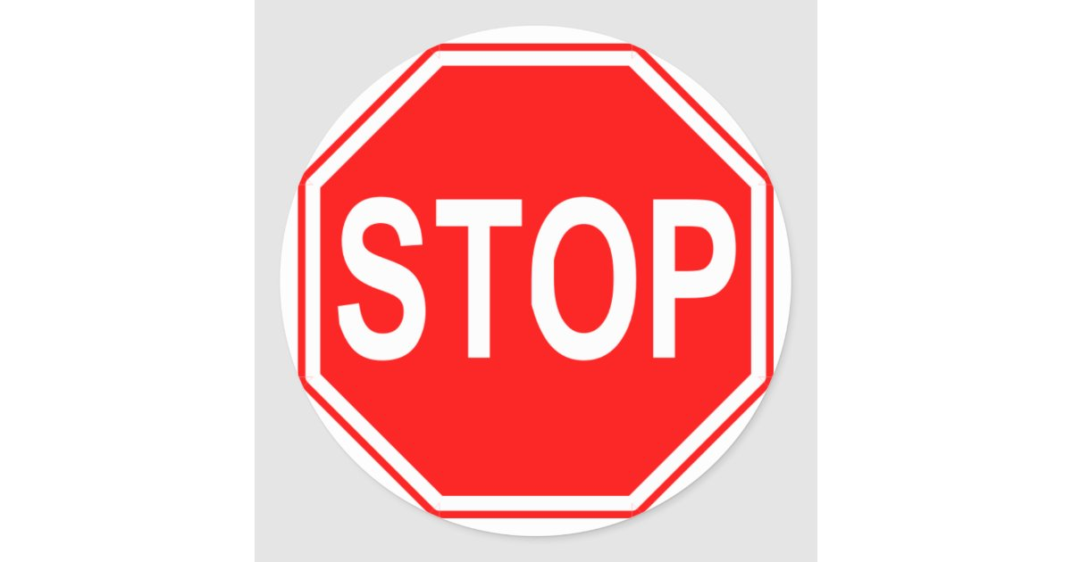 Stop sign stickers zazzle ca