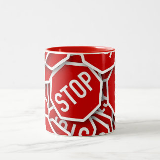 Stop Sign Two-Tone Coffee Mug