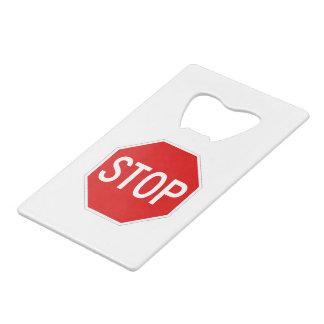 Stop sign wallet bottle opener
