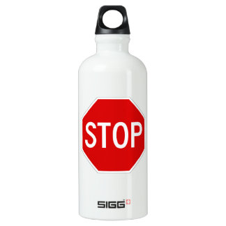 Stop sign water bottle
