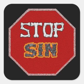 Stop Sin sticker