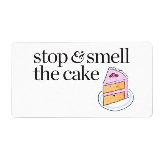 Stop & Smell the Cake Shipping Label