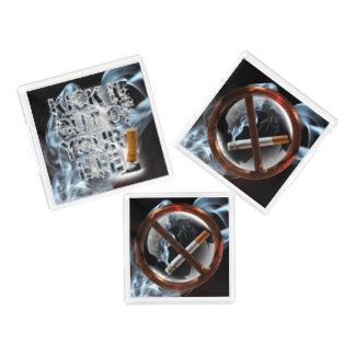 Stop Smoking Acrylic Tray