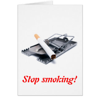 Stop smoking! card