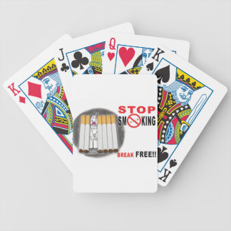 Stop Smoking Reminders - No More Butts Bicycle Playing Cards