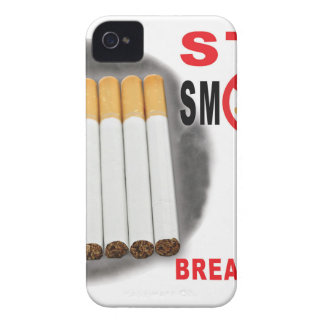 Stop Smoking Reminders - No More Butts iPhone 4 Case-Mate Case