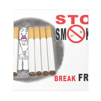 Stop Smoking Reminders - No More Butts Notepad