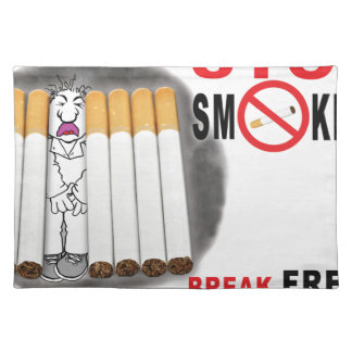 Stop Smoking Reminders - No More Butts Placemat
