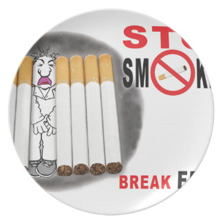 Stop Smoking Reminders - No More Butts Plate