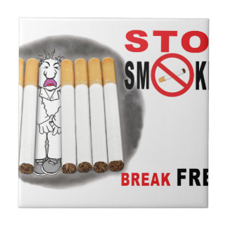 Stop Smoking Reminders - No More Butts Tile