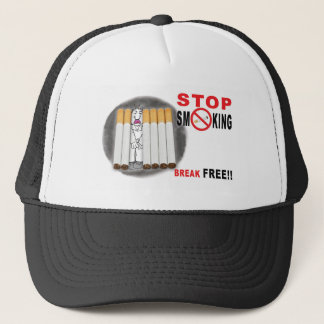 Stop Smoking Reminders - No More Butts Trucker Hat