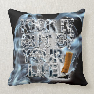 Stop Smoking Throw Pillow