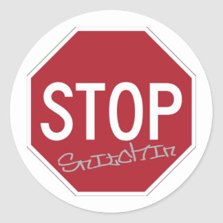 Stop Snitchin Classic Round Sticker