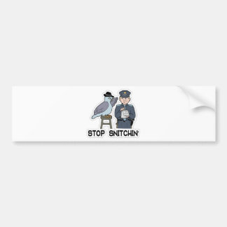 stop snitching pigeon bumper sticker