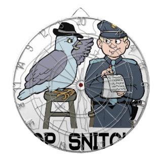 stop snitching pigeon dartboard