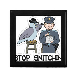 stop snitching pigeon gift box