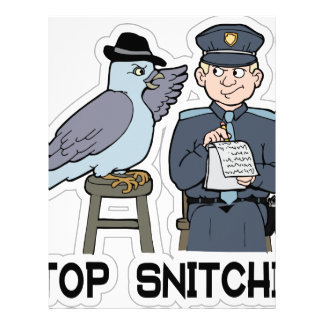 stop snitching pigeon letterhead