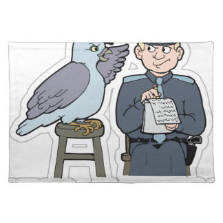 stop snitching pigeon place mats