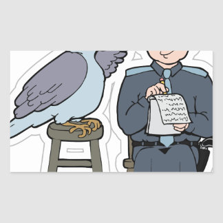 stop snitching pigeon sticker