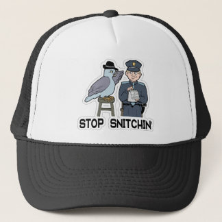 stop snitching pigeon trucker hat